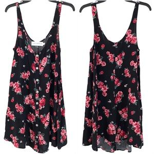 GYPSY WARRIOR Floral Pink & Black Romper Small